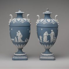 Josiah Wedgwood (British, 1730–1795) | Vase with cover (one of a pair) | ca. 1780–1800 The Metropolitan Museum of Art, New York