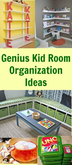 Use these kid room organization ideas to get your childs room organized once and for all. The post Genius Kid Room Organization Ideas appeared first on Children's Room. Girl Room, Child's Room, Baby Room, Ideas Hogar, Kids Room Organization, Organizing Ideas, Toy Rooms, Kids Rooms, Kid Spaces
