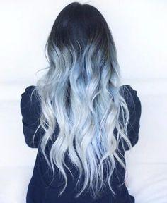 Ombre bleu glacier