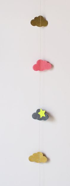 cloud garland. Maybe some Rainbow party inspiration? After all....You can't have a rainbow without a little clouds :)