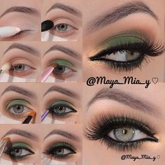 .@maya_mia_y | Smokey Brown, Green and Gold Pictorial 1.Apply Nyx Jumbo pencil Milk allove... | Webstagram - the best Instagram viewer
