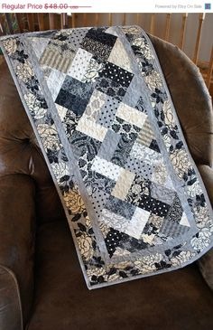 Contemporary Tablerunner...another 'little black dress' for you