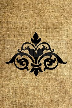 INSTANT DOWNLOAD Big Damask Download and Print Image by room29, $1.00