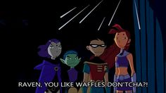 When I was younger Teen Titans was my favorite show. I post mostly anything Teen Titans related. Teen Titans Fanart, Teen Titans Go, Teen Titans Robin, Dc Memes, Funny Memes, Dc Comics, Twilight Equestria Girl, Raven Beast Boy, Original Teen Titans