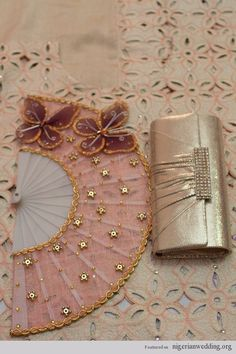 Traditional Engagement Wedding Hand Fan 'Abebe' Ideas & Colours | Nigerian Wedding