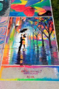 Chalk Fest art by my friend Gary  Does this remind anyone else of Mary Poppins?