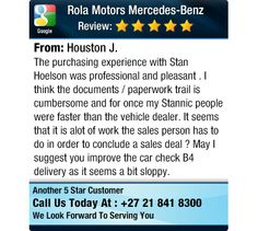 The purchasing experience with Stan Hoelson was professional and pleasant . I think the...