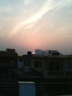 Sun Set @Sector Global 14 Gurgaon