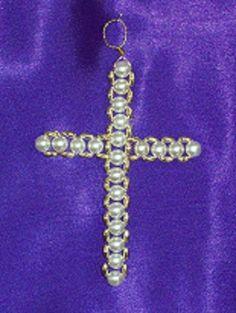 Результат пошуку зображень для Beaded Chrismon Ornaments
