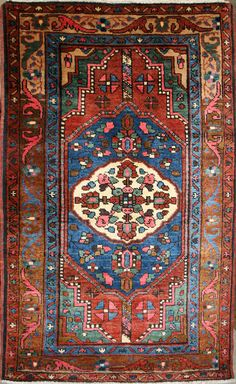 Small Persian Hand-Knotted Meshkabad Rug in Wool (Cotton Foundation) - Ref: 1917 - 1.43m x 0.85m