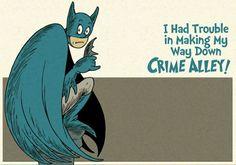 Batman Dr. Seuss Style