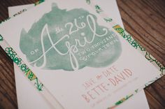 a beautiful handmade wedding with watercolor invitations + mismatched bridesmaid dresses