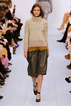 Paris Fashion Week Fall 2012 Runway Looks - great fall sweater look from Chloe.