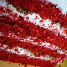 Red velvet cake has been apart of my life sinc before I remember.  Withbit being a new fad i thiught i would post his revipe.  This is the real thing here from the Waldorf Astoria.  The icing is not cream cheese and never will be on a true red velvet cake.     Waldorf Astoria Red Velvet Cake
