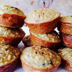 Muffins sans farine à la banane, beurre d'amande et chocolat noir - Nutritionnistes NutriSimple