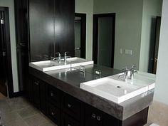 White, Modern  Concrete Sinks  Nobel Concrete  Jenison, MI