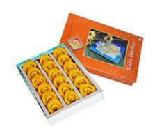 Buy 500gm Kaju Burfee and 500gm Kaju Kesar Boat-KBC016 online at shyam swaad  mithai mart