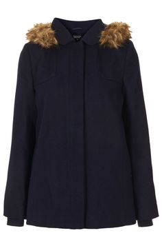 Fur Hooded Swing Coat - Coats - Clothing - Topshop