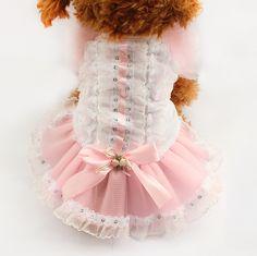 Loja Armi sopro renda Formal vestidos de cão cães princesa saia roupas 71017 cachorro suprimentos vestido XS sml em Vestidos para Cachorros de Casa & jardim no AliExpress.com | Alibaba Group
