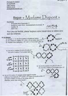 Le site de Marie : Schéma bague Madame Dupont