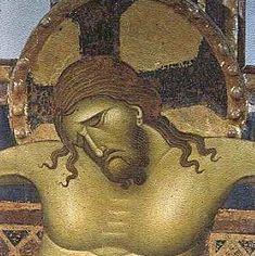 Giunta Pisano. Crocifisso. 1250-54. Dett. Tempera su tavola. Bologna, Chiesa di San Domenico.