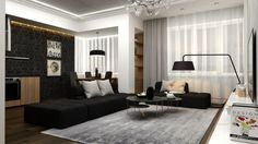 25 Modern Living Rooms with Cool and Clean Lines - iCreatived