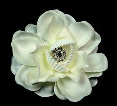 Ivory White Hair Flower with Seashells and Crystal -- Want to know more, click on the image.