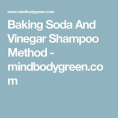 Baking Soda And Vinegar Shampoo Method - mindbodygreen.com