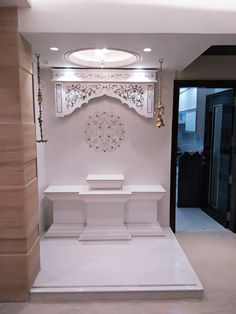 House Furniture Design, Interior Design Studio, Home Decor Furniture, Temple Design For Home, Home Temple, Home Decor Hooks, Bed Headboard Design, Mandir Design, Dressing Table Design