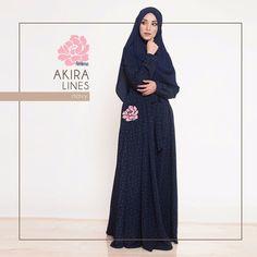 Gamis Amima Akira Dress Lines Navy - baju muslim wanita baju muslimah Untukmu yg cantik syari dan trendy . . Size: XS ---> LD 92 P 135 S ---> LD 96 P 137 M ---> LD 100 P 139 L ---> LD 104 P 141 XL ----> LD 112 P 114 . . Detail : - Material bahan : Wolpeach CREPE HQ (POLYESTER CREPE) bahannya flowy bisa swing-swing cocok untuk travelilng (ironless) - Dress depan model lipit 2 kanan-kiri kerah bulat Zipper depan perfect for #busuifriendly #nursingfriendly #gamisbusuifriendly - Kantong kanan…
