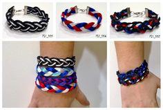 Pulseiras fio de seda / trança / varias cores
