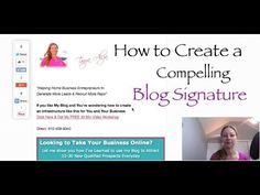 Have you ever wondered how to Make a Blog Signature that you can simply add to each Blog post with only 2 clicks? Not only can I show you a simple way to add this to each blog post but it's compelling and it gets your visitors to Take Action with you.