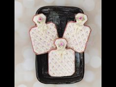 I am excited to share this tutorial with you! I created these perfume bottle cookies using several of my favorite decorating techniques: Hand painting, dimen...