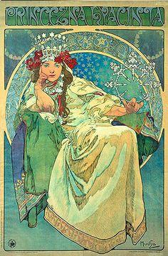 1911 Prinzessin Hyazinthe. Alphonse Mucha