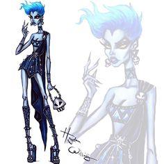 Teen Disney Villains: Hades by Hayden Williams💙💀🔥 Hayden Williams, Hades, Disney Style, Disney Art, Disney Fashion Sketches, Blue Drawings, Pinturas Disney, Disney Divas, Alternative Disney