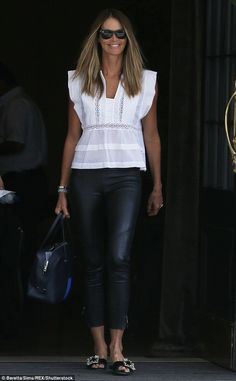 The Body is back! Elle Macpherson, 52, looked effortlessly chic as she stepped out in London on Wednesday