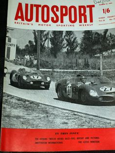 SEBRING 12 HOURS 1961 PHIL HILL OLIVIER GENDEBIEN FERRARI 250 TR1 + LOTUS 19 Corvette C3, Chevrolet Corvette, Olivier Panis, Lotus Elite, Bmw M1, Rx7, Le Mans, Fiat, Mazda