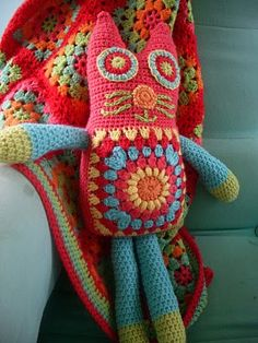 cat crochet - color change and this would be great for Halloween!