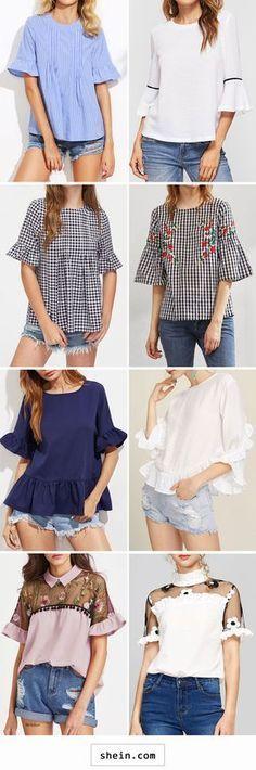 Ruffle blouses