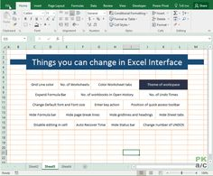 Default settings that you can change in Excel Excel For Beginners, Excel Hacks, Excel Calendar, Default Setting, Learn Programming, Instagram Marketing Tips, France, Microsoft Excel, Page Layout