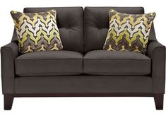 picture of Cindy Crawford Home Montclair Slate Loveseat from Loveseats Furniture