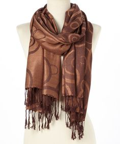 Look at this #zulilyfind! Coffee Circle Pashmina-Silk Blend Reversible Scarf #zulilyfinds