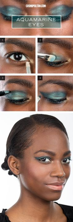 Revel in holiday memories by following Lauren Cosenza's tutorial she created for @Cosmopolitan. The amazing look features our Loose Glitter Pigments FIRE DROPS 'Spun from Sunny Seawater' and 'Sleeping under a Mandarin Tree' for shimmering and deep eyes like the ocean.
