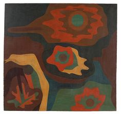 Paul Klee 'Untitled(Triplet Blossoms and the Cave)' 1930 Oil on plywood 51 x 53 cm