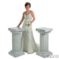 Marble-Look Fluted Columns/Pillars - 3 Ft. Wedding Party Decorations New Wedding Columns, Fluted Columns, Marble Columns, Formal Dance, Diy Wedding Decorations, Wedding Ideas, Aisle Decorations, Wedding Inspiration, Wedding Fans