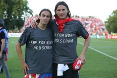 SPORTS And More: #Benfica players didn't forget #Bosnia and #Serbia...