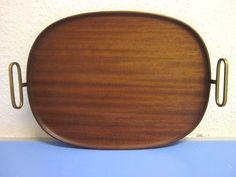 Carl Auboeck Vienna teak tray with brass 445 Artes Seefried 1955 mid-century