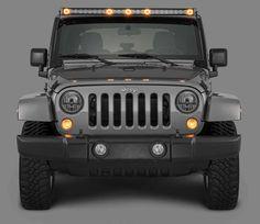 Quadratec® J5 LED Light Bar with Amber Clearance Cab Lights for 07-17 Jeep Wrangler JK   Quadratec