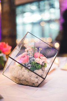 A Centerpiece for the Bride Who Isn't Flower Obsessed: Wedding Terrariums