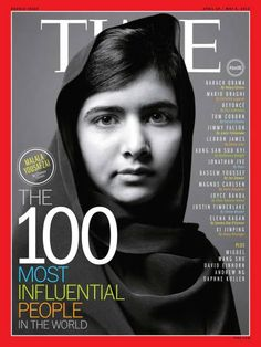 Malala Yousafzai was on the cover of TIME Magazine's 100 Most Influential People list in 2013.